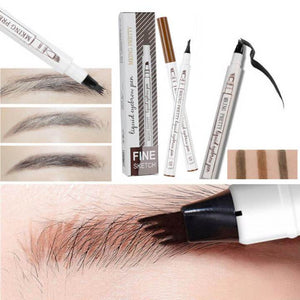 Eyebrow Tattoo Pen -a Micro-Fork Tip Applicator Creates Natural Looking Brows Effortlessly and Stays on All Day
