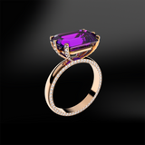 AMETHYST - DIAMOND Ring