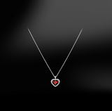 RUBY - DIAMOND Heart Necklace