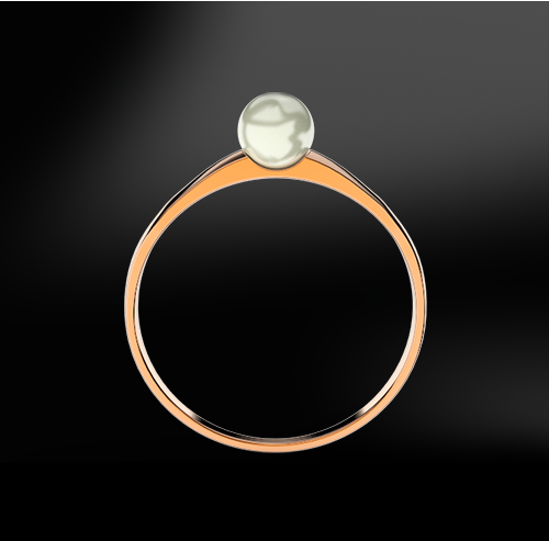 pearl silver gold wedding engagement ring june birthstoner