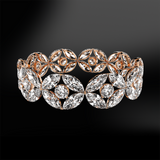 DIAMOND Marquise Eternity Rose Gold Ring