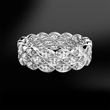marquise diamond eternity white gold ring