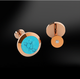 TURQUOISE - DIAMOND Cufflinks