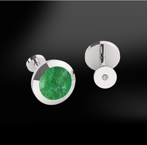 JADE & DIAMONDS GOLD Cufflinks