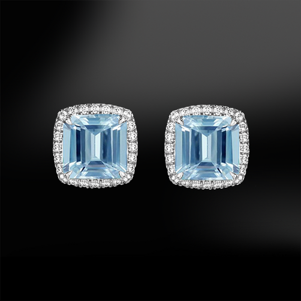 AQUAMARINE & DIAMONDS Earrings