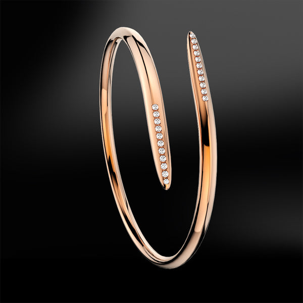 diamond silver rose gold bracelet spiral collection