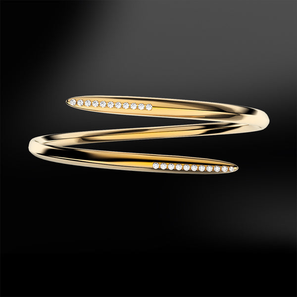 diamond silver yellow gold spiral bracelet spiral collection