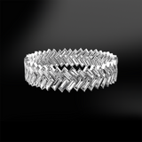 Herringbone Baguette diamond eternity ring