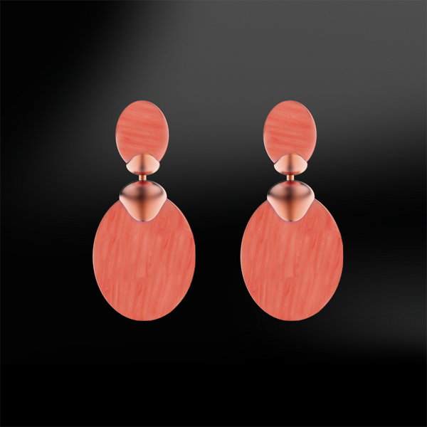 CORAL Drop Sanded Earrings