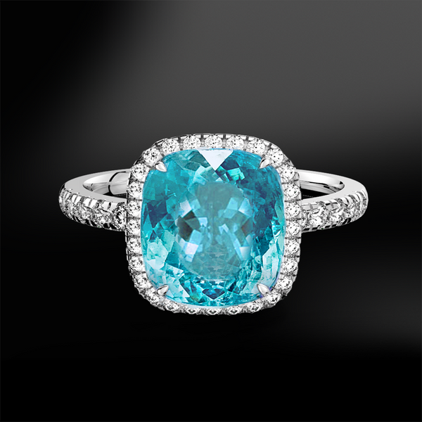 PARAIBA TOURMALINE - DIAMOND Ring
