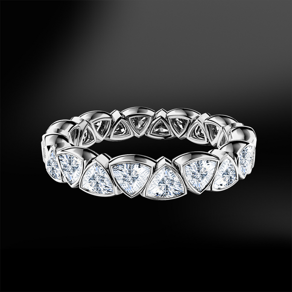 Trillion Cut Eternity Ring