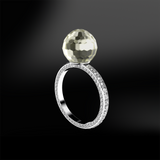 faceted Tahitian diamond ring
