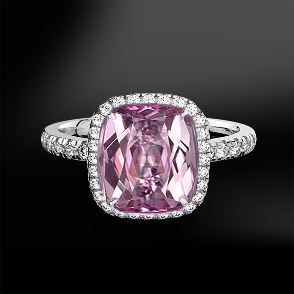KUNZITE - DIAMOND Ring