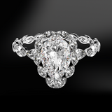 White Pear DIAMOND Solitaire Ring