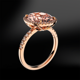 MORGANITE - DIAMOND Ring
