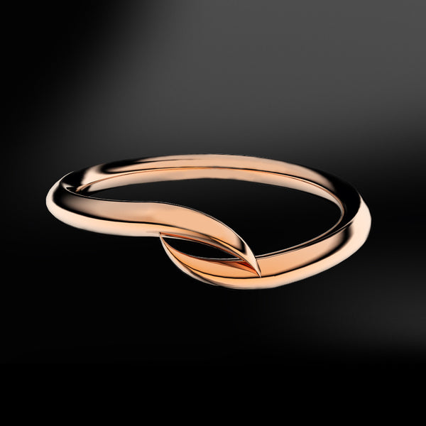 spiral rose gold ring