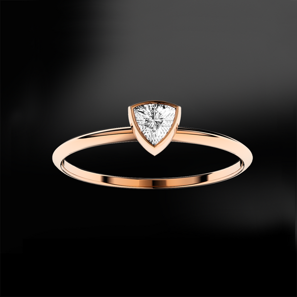 Trillion Solitaire Ring