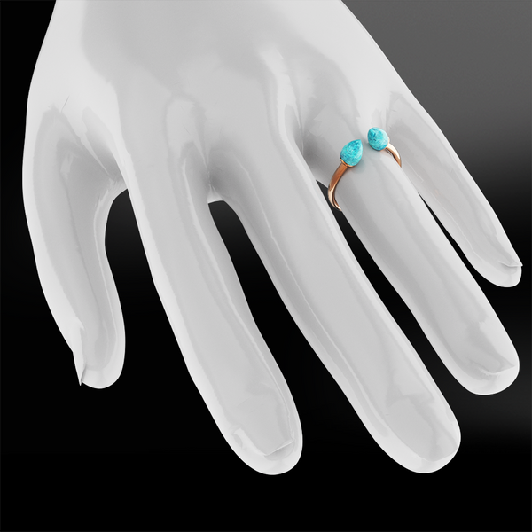 Claw turquoise gold ring
