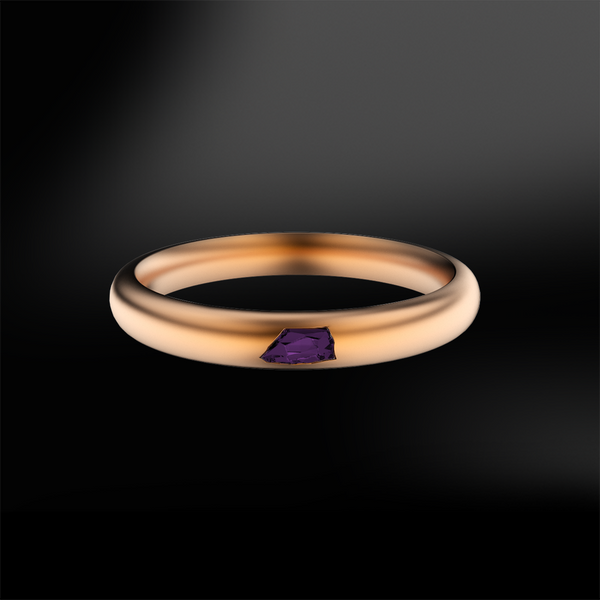 ROUGH AMETHYST SANDED Ring
