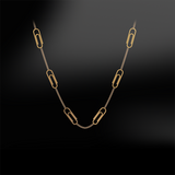 PAPER CLIP GOLD Necklace