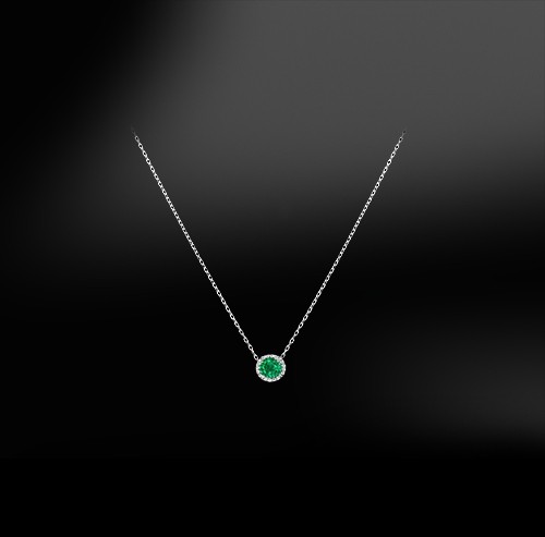 EMERALD - DIAMOND Necklace