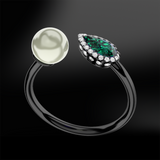EMERALD, DIAMOND & PEARL Ring