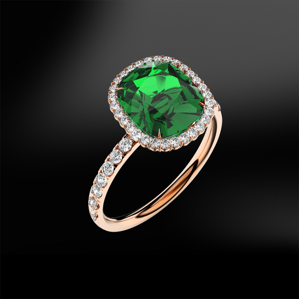EMERALD - DIAMOND Ring