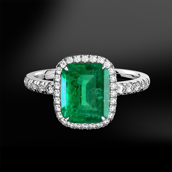 emerald diamond wedding engagement gold platinum ring may birthstone