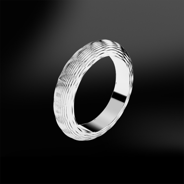 Textured White Gold Ring