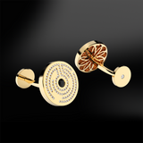 labyrinth mens diamond gold cufflinks