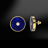 LAPIS LAZULI  - DIAMOND Earrings