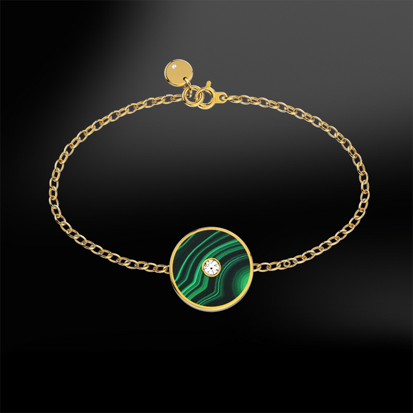 MALACHITE - DIAMOND Bracelet