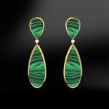 MALACHITE - DIAMOND Earrings