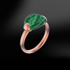 MALACHITE Gold Sanded Ring
