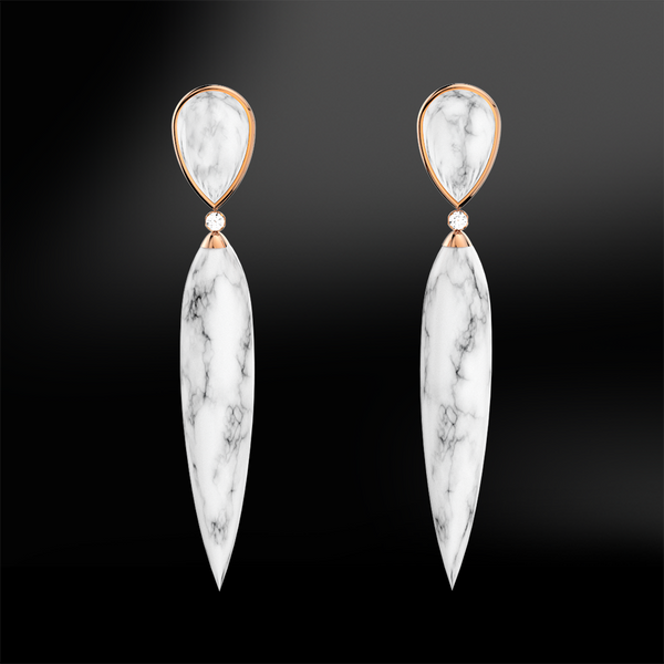 MARBLE - DIAMOND Earrings