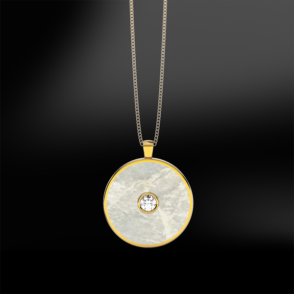 MOTHER OF PEARL - DIAMOND Pendant