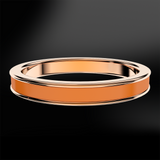 Orange Enamel Rose Gold Ring