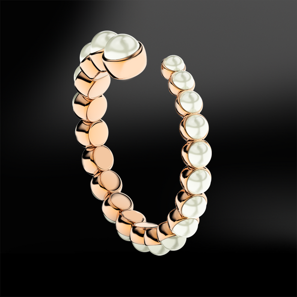 pearl split band eternity ring