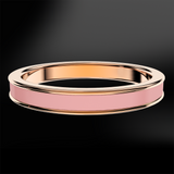 Camellia Enamel Rose Gold Ring