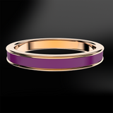 Orchid Purple Enamel Rose Gold Ring