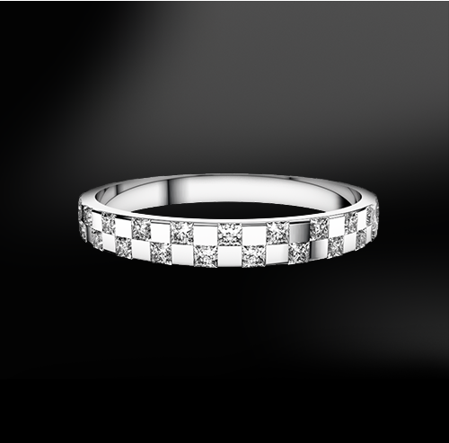 princess cut white diamond wedding engagement gold eternity ring band