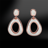 MOTHER OF PEARL Drop Sanded Earrings