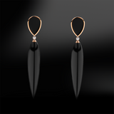 Claw BLACK AGATE - DIAMOND Earrings