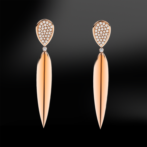 Claw DIAMOND & ROSE GOLD Earrings
