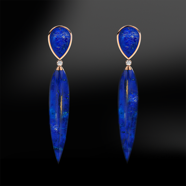 LAPIS LAZULI & DIAMOND Earrings
