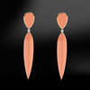 claw coral gold earrings