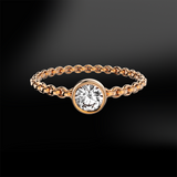 DIAMOND Solitaire Chain Ring
