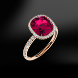 SPINEL - DIAMOND Ring