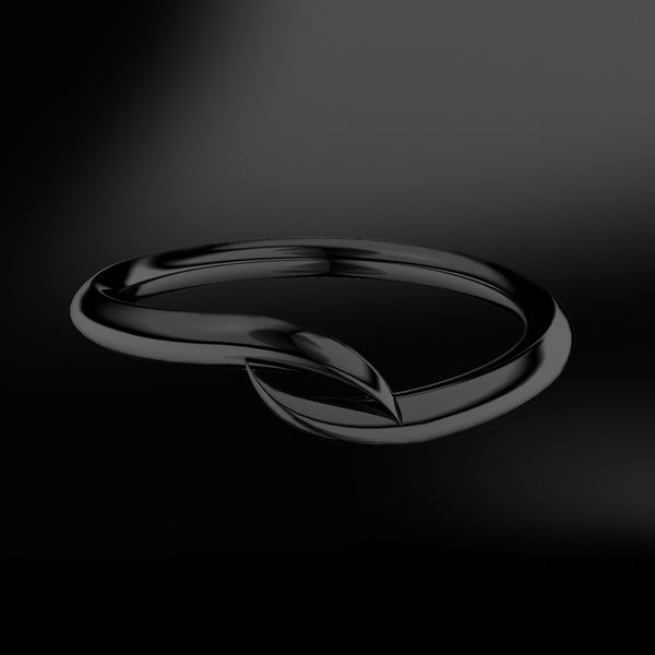 spiral black gold ring