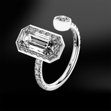 WHITE TOPAZ - DIAMOND Ring